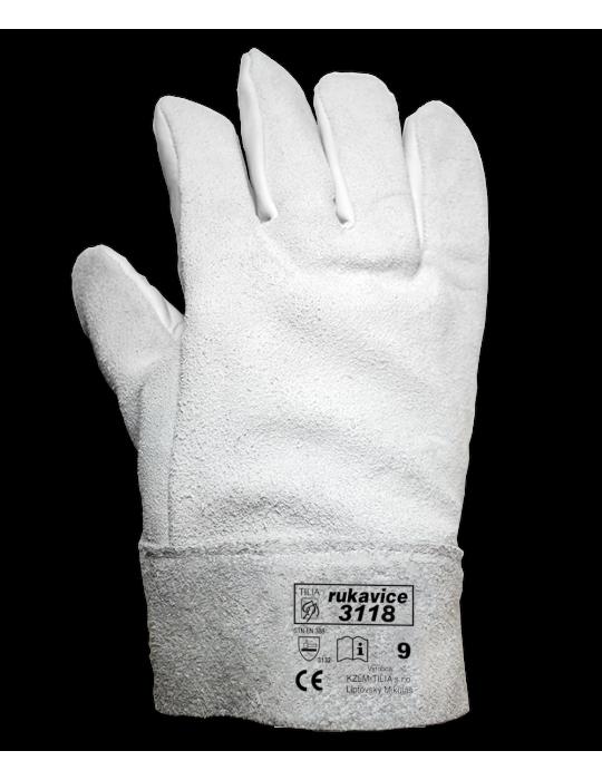 Celokožené rukavice s výstuhou 3018